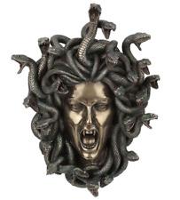 Mystical Greek Head of Medusa Gorgona Bronze Finished Wall Scalpture
