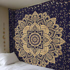 Indian Twin Hippie Mandala Tapestry Wall Hanging Throw Bohemian-Bedspread Decor