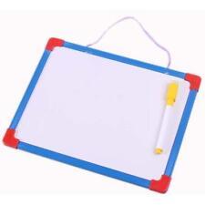Mini Kids Reminder Erasable Brush Drawing Writing Tablet Whiteboard Black Pen