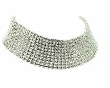 White Austrian crystals chocker 10row