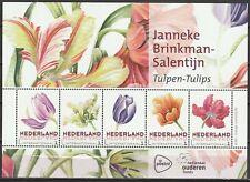 3197 Nederland 2016 Map met 4 velletjes van 5 Janneke Brinkman - tulpen - tulips