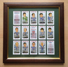 MANCHESTER UNITED 1968 EUROPEAN CUP WINNERS FRAMED CARD SET FREE POSTAGE