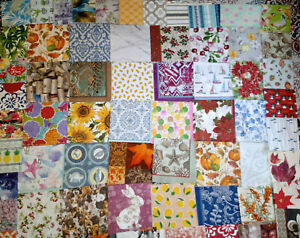 64 Dif. Paper Napkins ~MEGA LOT BACKGROUNDS & PATTERNS~ For Art DECOUPAGE Crafts