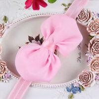 New Infant Baby Toddler Feather Flower Diamond Soft Headband Headwear Hair Band