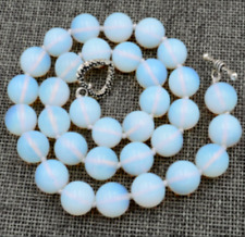 """Beautiful Huge 12mm Round Mexican Monstone Gems Bead Necklaces 18"""""""