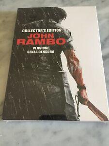 """2 DVD """"JOHN RAMBO"""" COLLECTOR'S EDITION SIGILLATO NO CENSURA STALLONE F.C."""
