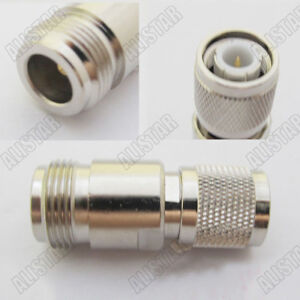 10 Pieces N Female Jack to TNC Male Plug Straight Adapter Connector