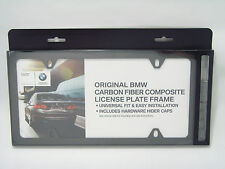BMW Real Carbon Fiber Slim License Plate Frame OEM 82112210415 M3 M5 M6 Audi