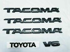TOYOTA TACOMA EMBLEM KIT  5 PCS SET/  DOORS AND TAILGATE MATTE BLACK  NEW
