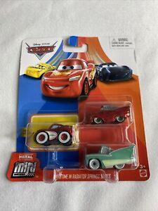Disney Pixar CARS Mini Racers 3 - Pack BRAND NEW!! FREE SHIPPING!!