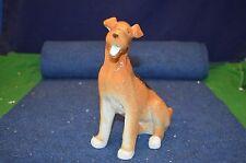 Lovely Vintage Lomonosov USSR Large Airedale Dog Porcelain Figure USC RD6198