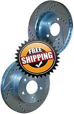 2 Drill Slot Brake Disc Rotors Set FRONT Fits 2007 Mercedes Benz S350