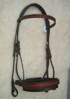 Adams-Tack - Crank / Swedish Leather Horse Bridle -Crystal Browband & Noseband
