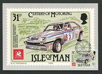 ISLE OF MAN MK 1985 AUTOS CARS FAUXHALL MAXIMUMKARTE MAXIMUM CARD MC CM d5144