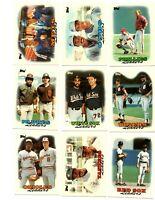 1988 Topps Tiffany baseball lot of 23 different team leader cards - Boggs, Gwynn