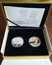 Niue 2 dollars 2010, Set of 2 silver coins Holy Apostles Peter Paul gold plated