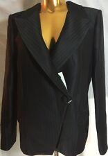 New $2,995 Giorgio Armani Italy Women Black One Button Blazer 46