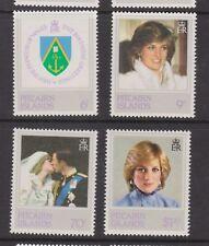 1982 Princess Diana 21st Birthday MNH Stamp Set Pitcairn SG 226-229
