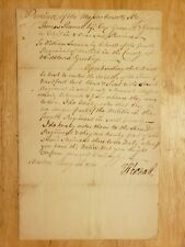 1760 French + Indian War Military Document Signed by Ma Governor Thomas Pownall