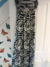 Select Long Strapless Black/white/grey Dress