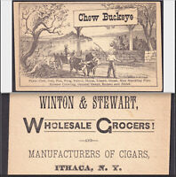 Ithaca NY 1800's Cigar Maker Tobacco Card Chew Buckeye Frog Puzzle General Grant