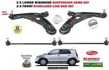 FOR TOYOTA URBAN CRUISER 2010-> 2 X FRONT WISHBONE SUSPENSION ARM + 2X LINK BARS