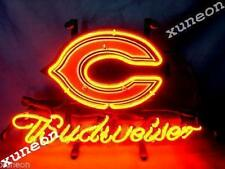 New Chicago Bears Nfl Football Budweiser Beer Bar Pub Neon Light Sign Free Ship