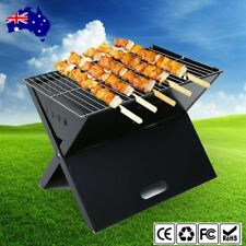 Portable Notebook Grill BBQ Foldable Folding Charcoal Camping Picnic Barbecue