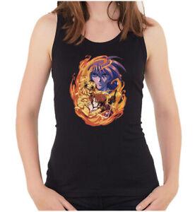 Rurouni Kenshin Shishio Arc Fire Art Women's Sleeveless Tank Top T Shirt