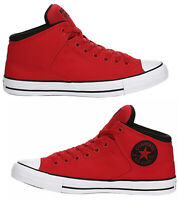 New CONVERSE Chuck Taylor Street hi top athletic Sneakers Mens red blk all sizes
