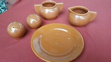 5 piece set of vintage Bauer, Los Angeles, ceramic table set