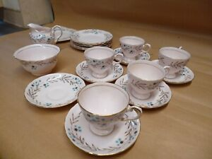 Tuscan Pottery Southern Star Design 6 Side Plates,6 Saucers and 5 Cups,