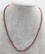 """red garnet round 3mm  faceted necklace 16.5"""" wholesale beads nature"""