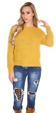 Trendy KouCla chunky knit sweater pullover with pockets. UK 8/10 EU 36/38 S/M