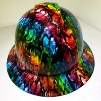 FULL BRIM Hard Hat custom hydro dipped , NEW FULL COLOR JOKERS ON ACID  SICK