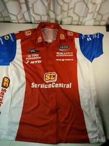 Indycar/NHRA Impact Men's XL Crew Full button up Shirt made in the USA 🇺🇸