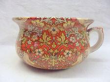 William Morris red birds tapestry decorative design small chamber pot planter