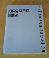 1983 Honda Accord OEM Service Repair Manual