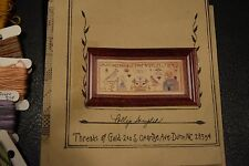 Cross Stitch THREADS OF GOLD POLLY'S SAMPLER historic Used with floss