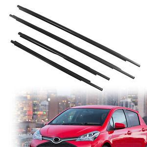4x Car Window Glass Seals Weatherstrip Sweep Belts For Toyota Yaris 2007-2016