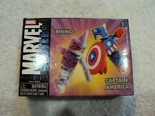 Marvel Minimates Rhino & Captain America Brand New Unopened Free Shipping