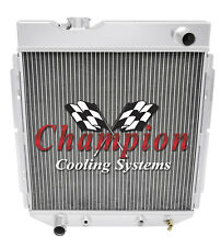 2 Row SZ Champion Radiator for 1965 - 1966 Ford Mustang L6 Engine