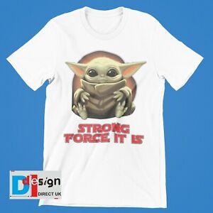 Baby Yoda T-Shirt Mandalorian Boys Girls Star Wars Retro  Children Tee Kids star