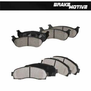 Front+Rear Ceramic Brake Pads For 2002 2003 2004 2005 Ford Explorer Mountaineer
