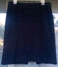 WHITE HOUSE BLACK MARKET Skirt Black Tweed Boucle Pencil Cotton Size: 10