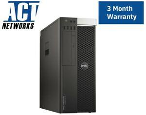 Dell T5810 E5-1650v3 6C/12T 3.5Ghz 64GB Ram 256GB SSD 1TB HDD P2000 4K/5K 425W W