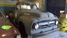 1955 ford f250 truck military style v8 runs & drives
