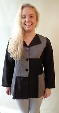 Black & grey size 20 new button up top jacket EVERSUN NWT long sleeves