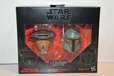 Star Wars Black Series Titanium Series Princess Leia & Boba Fett Helmets NEW 07