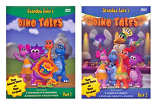 NEW Grandpa Jake's Dino Tales Set of 2 DVD Part 1 Animated Story Character Value